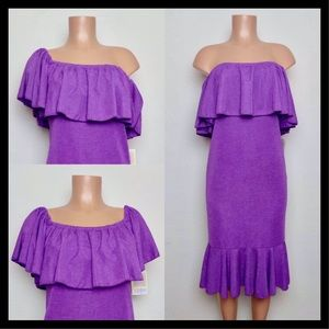 LuLaRoe Cici Mermaid Dress Small 6-8 Purple